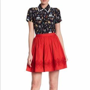 Alice + Olivia Tania Lace Inset Pouf Skirt Size 10